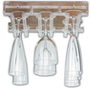 Acrylic Wine Glass Rack