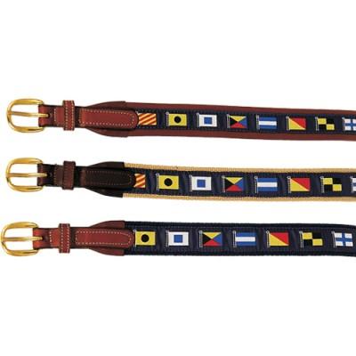 Nautical Flag Belts