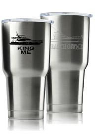 Sea Cup 30oz Silver - Printed